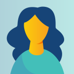 Headshot icon of a woman