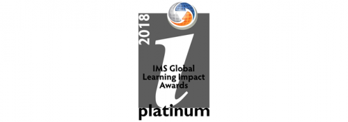 2018 Platinum IMS Global Learning Impact Awards logo