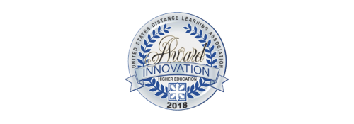 US Distance Learning Association Innovation Award 2018 logo