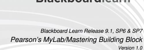 Blackboard Learn Release 9.1