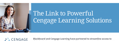 The link to Powerful Cengage Learning Solutions