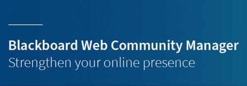 Strengthen Your Online Presence with Blackboard Web Community Manager