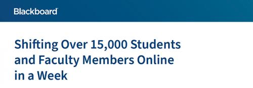 Shifting Over 15,000 Students and Faculty Members Online in a Week