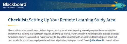 Setting Up Your Remote Learning Study Area