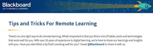Tips and Tricks For Remote Learning