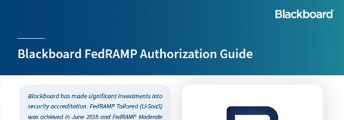 Blackboard FedRAMP Authorization Guide