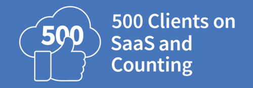 500 clients on SaaS and counting