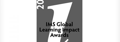 2018 IMS Global Learning Impact Award Platinum logo