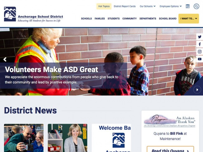 Anchorage School District Website
