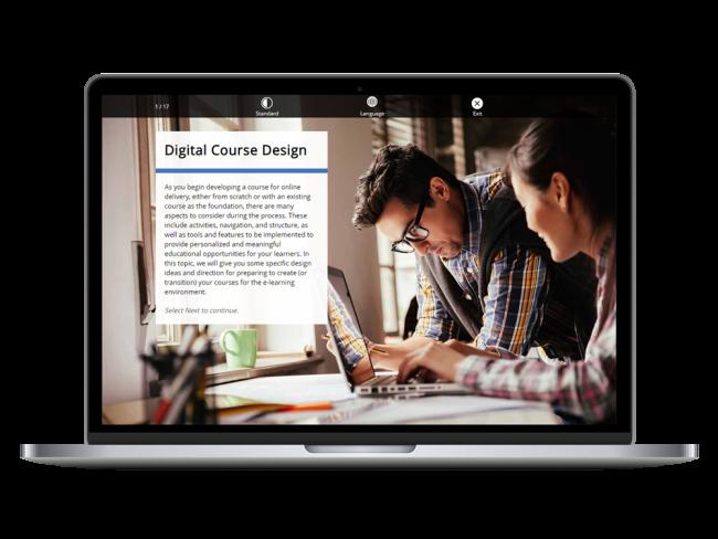 Digital Course Design Course on Laptop