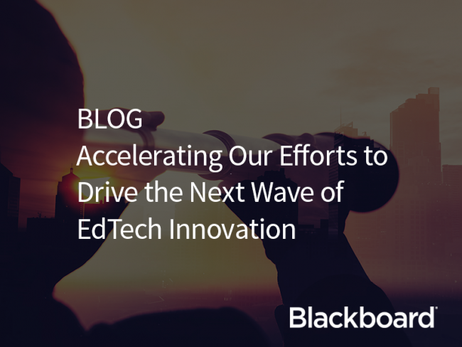 Accelerating Our Effort to Drive the Next Wave of EdTech Innovation