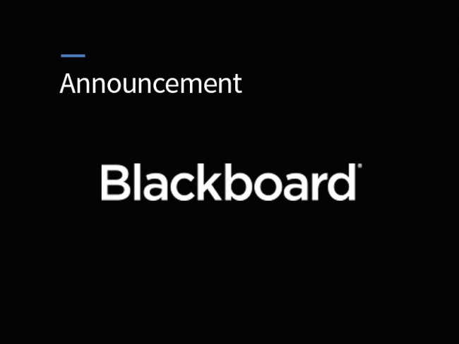 Blackboard Announcement